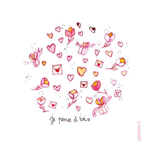 """Carte postale collection Mots d'amour """"Panache de tendresse"""""""