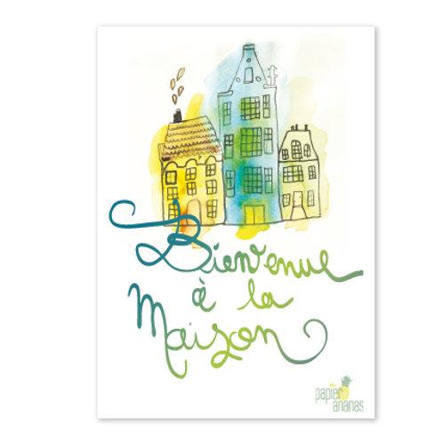 Carte postale Bienvenue à la maison
