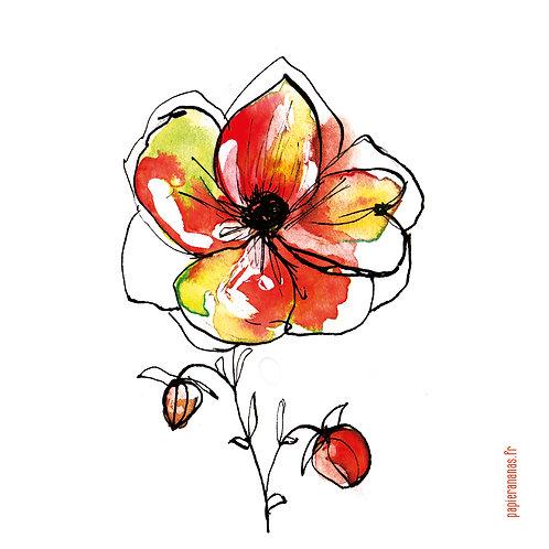"""Carte postale collection d'automne """"Fleur d'automne"""""""