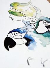 La fille oiseaux
