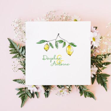"""Faire-part de mariage """"Lemon"""""""