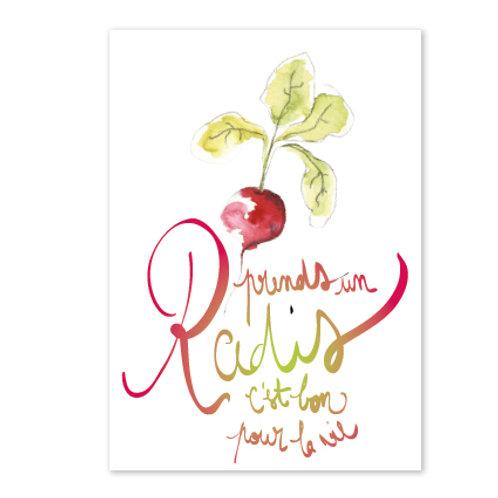 Carte postale Prends un radis