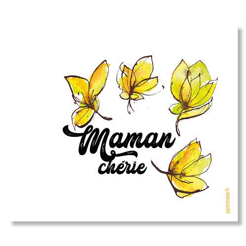 "Carte postale ""Maman Chérie fleurie"""