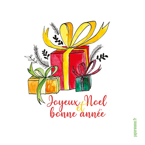 """Carte postale collection de Noël """"jolis cadeaux"""""""