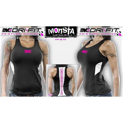 DriFit Monsta Racerback- Black/PINK