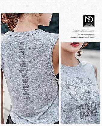 WOMENS MUSCLE TANK(GREY)