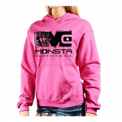 Women's Hooded Sweater Pink