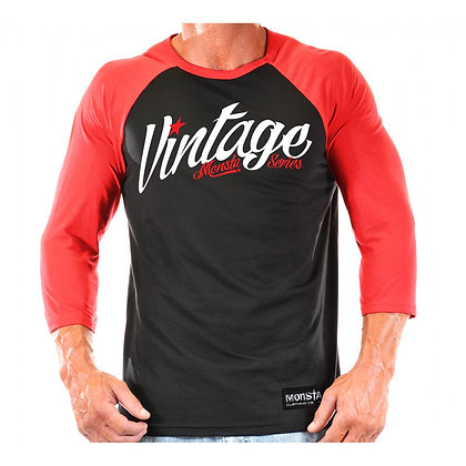 MONSTA 3/4 SLEEVE VINTAGE RAGLAN RED/BLACK