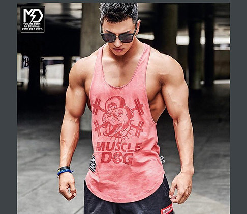 STRINGER Y-BACK MUSCLE TANK TOP (CORAL)