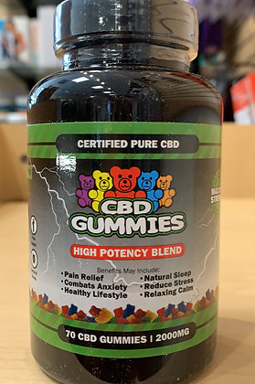 CBD GUMMIES 70ct/2000mg