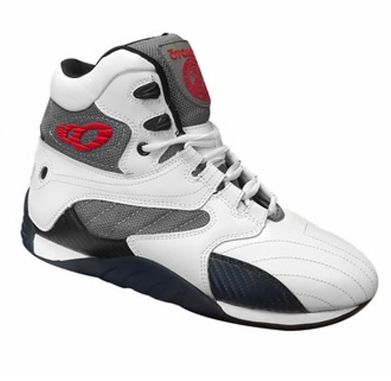 White/Carbon Ultimate Trainer Bodybuilding Shoes