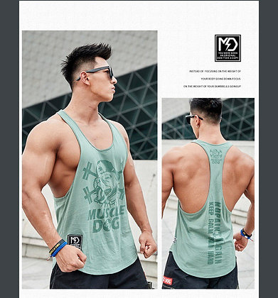 STRINGER Y-BACK MUSCLE TANK TOP (GREEN)