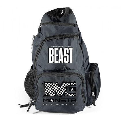 BEAST MC checkboard Sling Back Pack