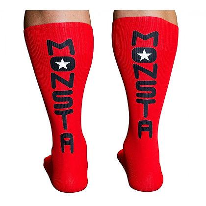 MONSTA KNEE HIGH SOCKS - RED