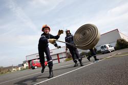 Formation de jeunes sapeurs pompiers