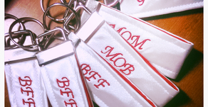 Embroidered Mini Key Fobs