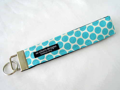 Large Teal Polka Dots - Regular