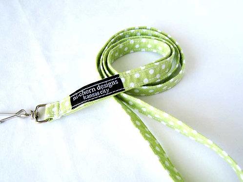 Light Green White Polka Dots - LL