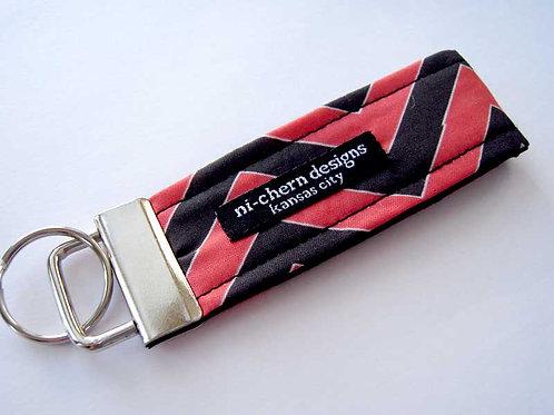 Black Red White Chevron - Mini