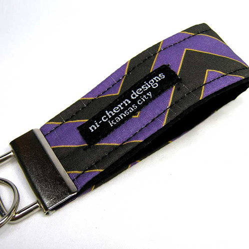 Black Purple Yellow Chevron - mini