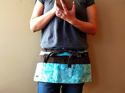 Teal Feather Outline - Craft Apron