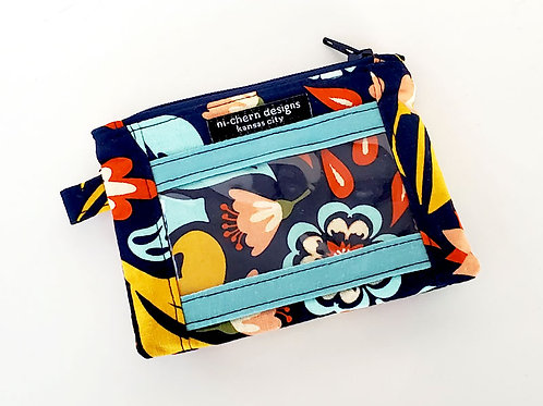 Navy Floral - ID Wallet