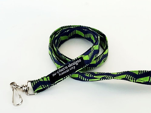 Navy Green Chevron - LL