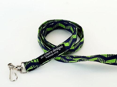 Navy Green Chevron - LL