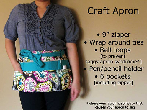 Craft Apron Pattern  - paper format