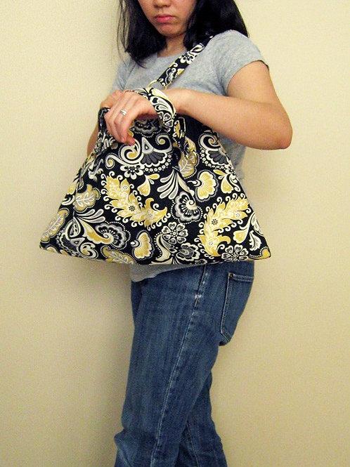 Black Paisley Everyday Bag