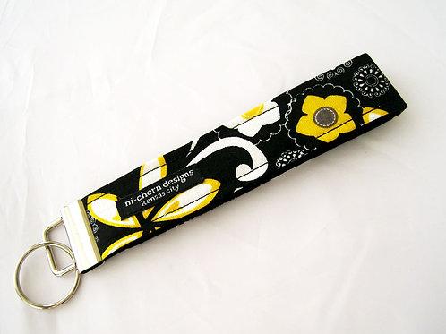 Yellow Black Gray Floral - Regular