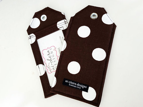 White Polka Dots Brown- LT