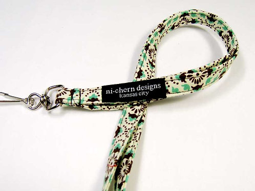 brown green medallion - SL
