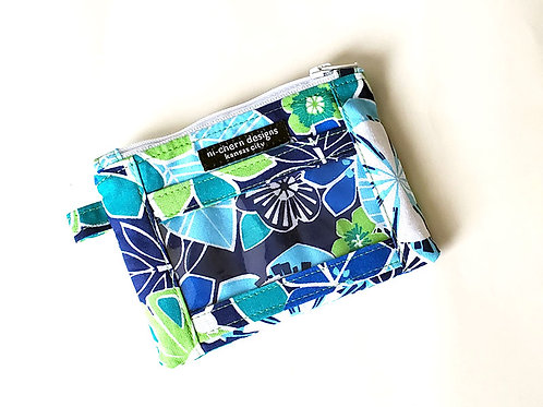 Blue Green Floral - ID Wallet