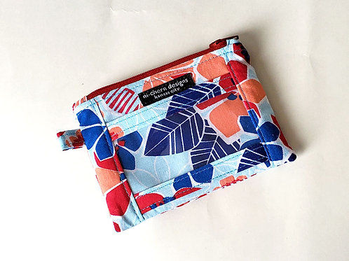 Red Blue Floral - ID Wallet