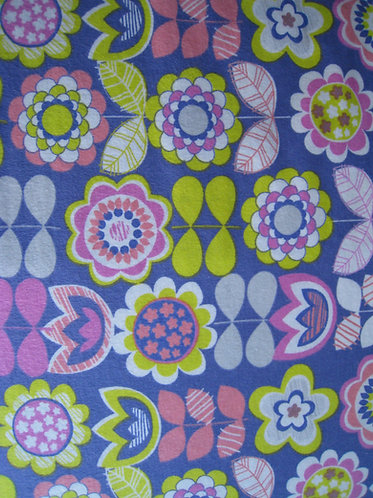 Pink and Yellow Flowers - Flannel