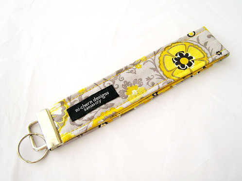 Yellow Floral on Gray - Regular