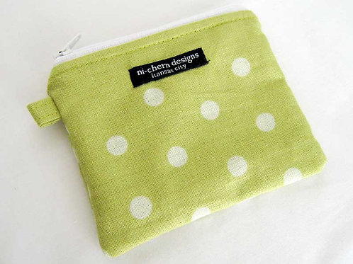 Green White Polka Dots - CP