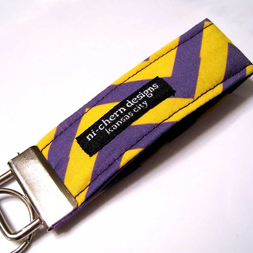 Yellow Purple Chevron - Mini