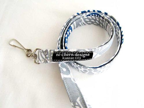 Gray Blue Floral - LL