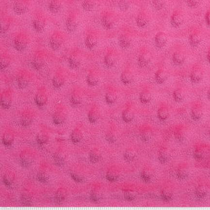 Hot Pink Dot Minky