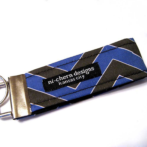 Black Dark Blue White Chevron - mini