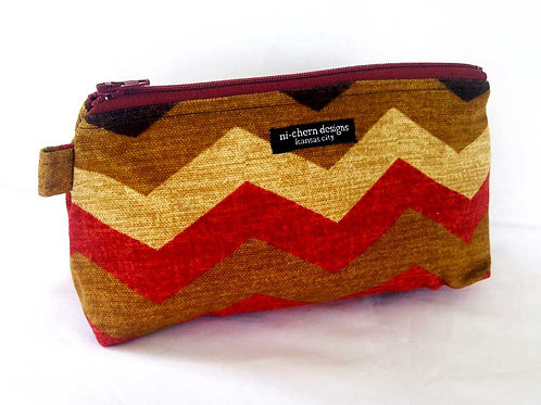 Red Tan Chevron Canvas - MP