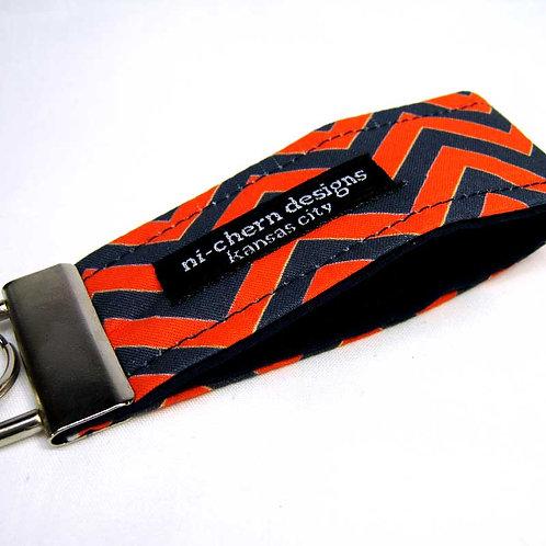 Navy Orange White Chevron - mini