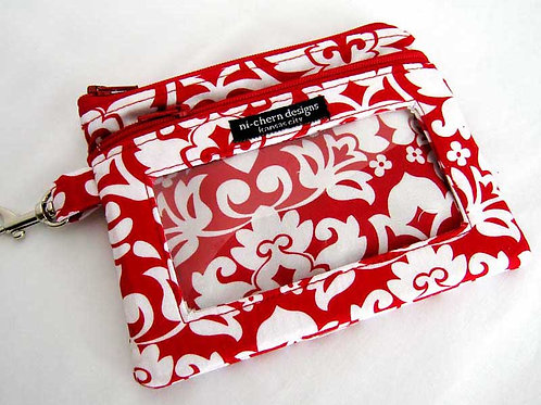 Red Damask - Sm Phone Pouch