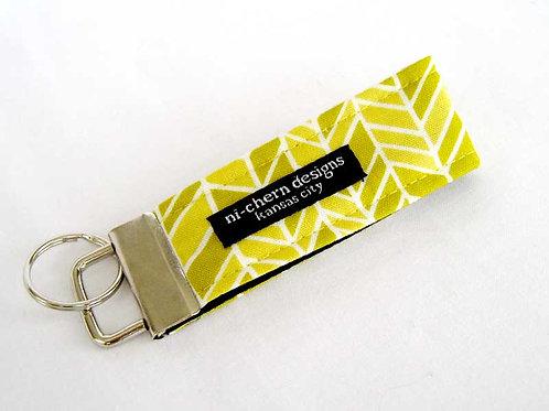 Yellow White Herringbone - Mini