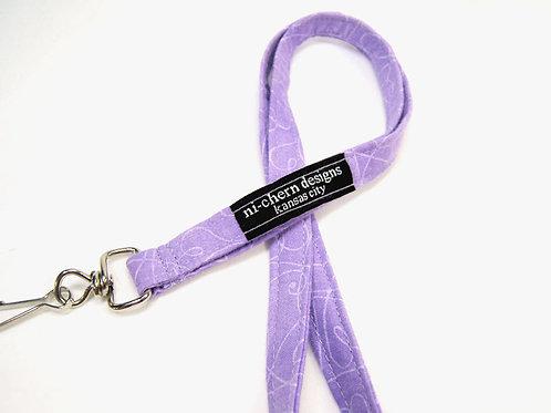 Purple Swirls - short lanyard