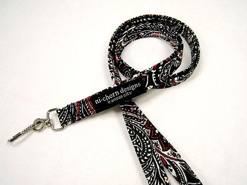 Black Red Paisley - LL