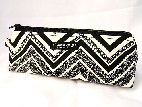 Black White Floral Chevron - SP