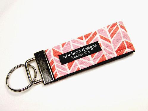 Pink Herringbone - Mini